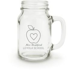 teacher apple mason jar
