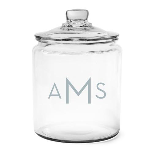 Three Letter Monogram Glass Jar