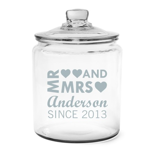 Mr And Mrs Glass Jar