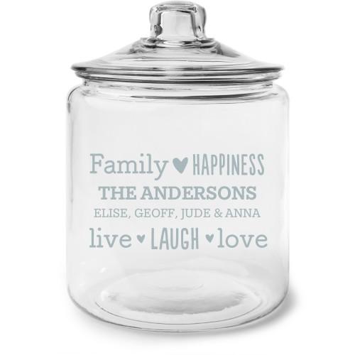 Family Sentiment Glass Jar, Glass jar gallon, Glass jar single side, White