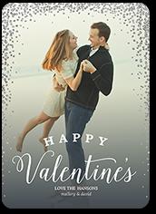 beloved confetti valentines card 5x7 flat