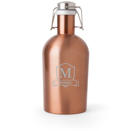 Plaque and Banner Growler, Growler Single Side, Stainless Steel, Copper, White