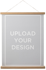 upload your own design hanging canvas print