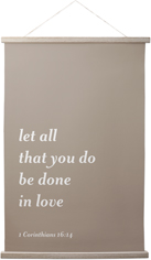 gallery text quote hanging canvas print