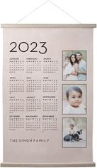 photo calendar hanging canvas print
