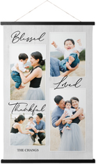 blessed weathered wood hanging canvas print