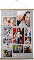 simple heart collage hanging canvas print