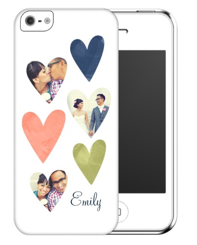 Heart Collage iPhone Case, Slim case, Matte, iPhone 5/5S, White