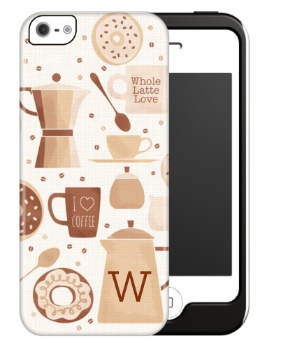 Coffee Break iPhone Case, Silicone liner case, Matte, iPhone 5/5S, Brown