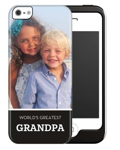 World's Greatest Grandpa iPhone Case, Silicone liner case, Matte, iPhone 5/5S, DynamicColor