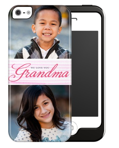 Classic Grandma iPhone Case, Silicone liner case, Matte, iPhone 5/5S, Pink