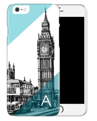 London Big Ben iPhone Case, Slim case, Glossy, iPhone 6, Blue