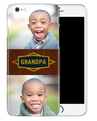 Classic Grandpa iPhone Case, Slim case, Glossy, iPhone 6, Brown