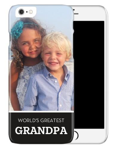 World's Greatest Grandpa iPhone Case, Slim case, Matte, iPhone 6, Black