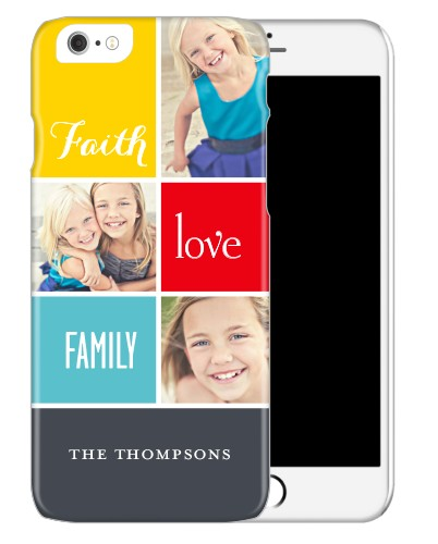 Faith And Family iPhone Case