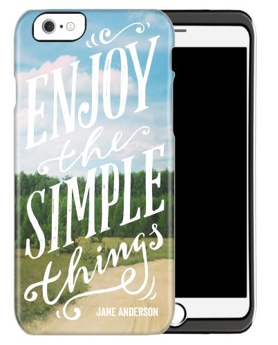 Enjoy Simple Things iPhone Case