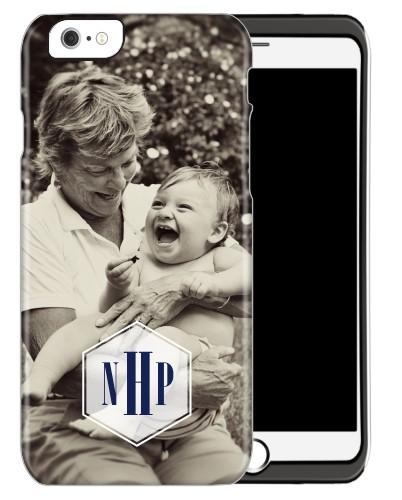 Deco Monogram iPhone Case, Silicone liner case, Matte, iPhone 6, DynamicColor