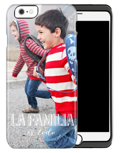 La Familia Es Todo iPhone Case, Silicone liner case, Matte, iPhone 6, White