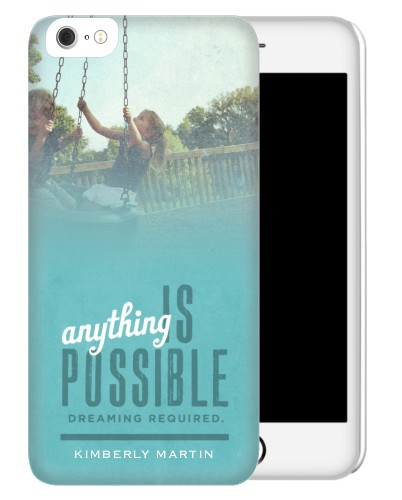 Anything Is Possible iPhone Case, Slim case, Matte, iPhone 6 Plus, Blue