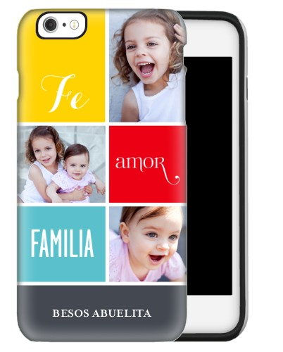 Fe Amor Familia iPhone Case, Silicone liner case, Glossy, iPhone 6 Plus, Grey