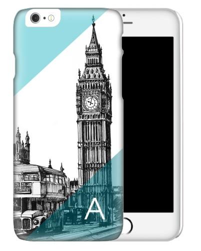 London Big Ben iPhone Case, Slim case, Matte, iPhone 6s, Blue
