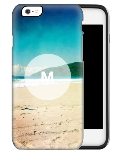 Frosted Glass Monogram iPhone Case, Silicone liner case, Matte, iPhone 6s, White