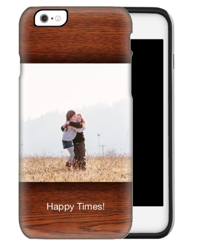 Woodgrain iPhone Case, Silicone liner case, Glossy, iPhone 6s, Brown
