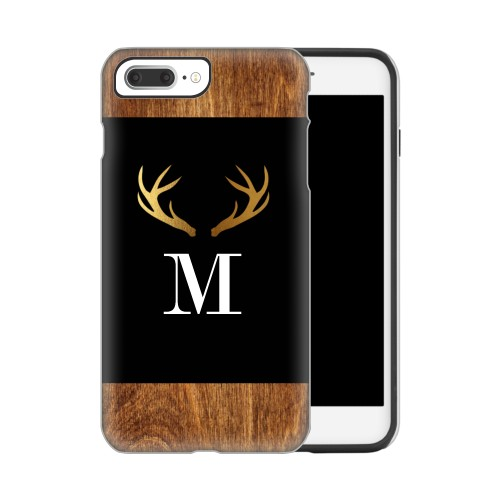 Antler iPhone Case, Silicone liner case, Glossy, IPhone 7 Plus, Brown