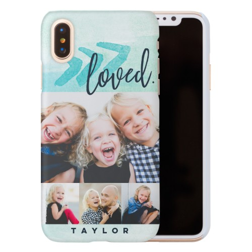 Watercolor Loved Script iPhone Case