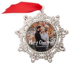 bold heart jeweled ornament
