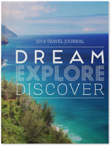 Dream Explore Discover Journal, White