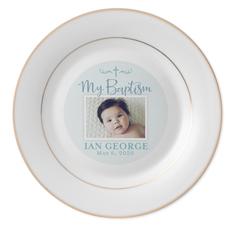 my baptism keepsake plate