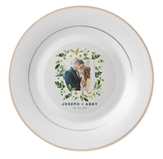 rustic wedding wreath keepsake plate