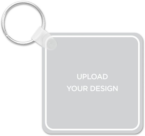 Upload Your Own Design Square Personalized Keychains | Shutterfly