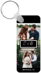 couple monogram key ring