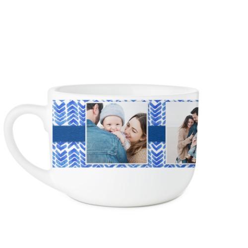 Chevron Watercolor Monogram Latte Mug