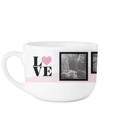 Love Colorblock Latte Mug, White,  , 25oz, Pink