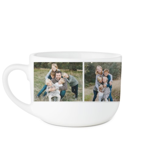 Cup of Love Collage Latte Mug, White,  , 25oz, White