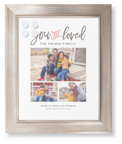 You Are Loved Collage Framed Magnetic Board, Metallic, Modern, 11 x 14 inches, DynamicColor