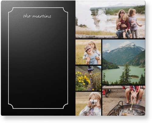 Chalkboard Frame Collage Metal Wall Art, Single piece, 8 x 10 inches, True Color / Glossy, Black