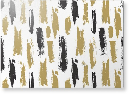 Brushstroke Lines Metal Wall Art, Single piece, 10 x 14 inches, True Color / Glossy, Multicolor