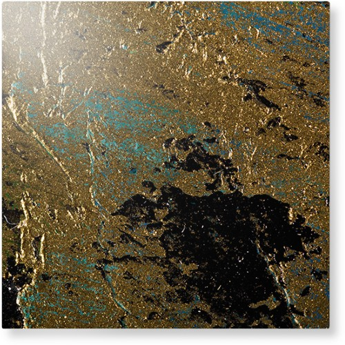 Brushed Printed Foil Metal Wall Art, Single piece, 16 x 16 inches, True Color / Matte, Multicolor