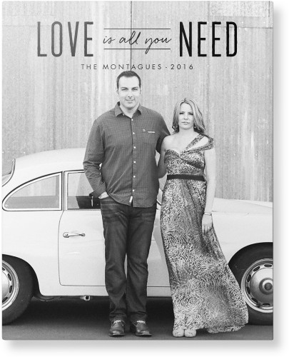 Love Is All You Need Metal Wall Art, Single piece, 16 x 20 inches, True Color / Glossy, Black