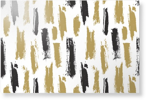 Brushstroke Lines Metal Wall Art, Single piece, 24 x 36 inches, True Color / Glossy, Multicolor