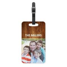 woodgrain luggage tag