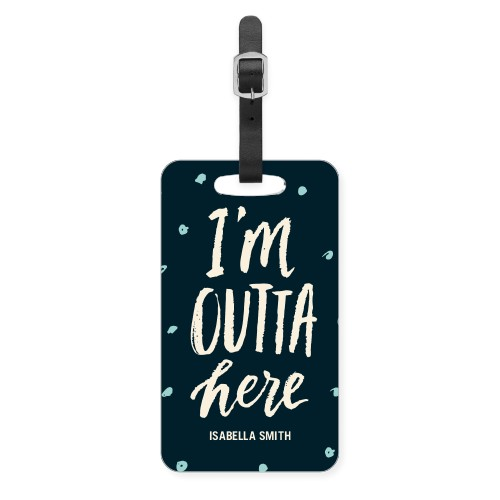 Outta Here Luggage Tag, Large, Black