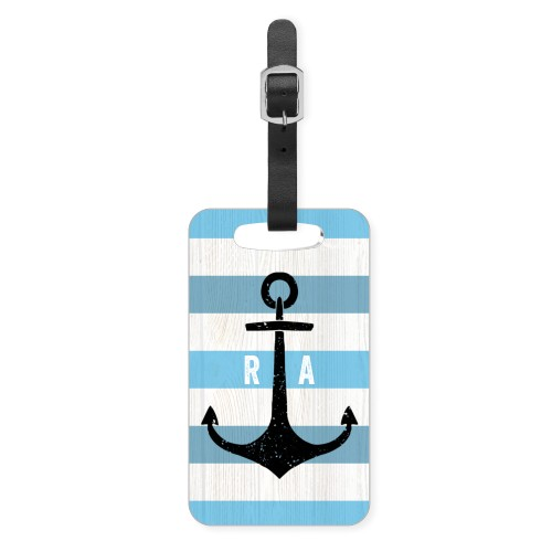 Anchored Monogram Luggage Tag, Small, Blue