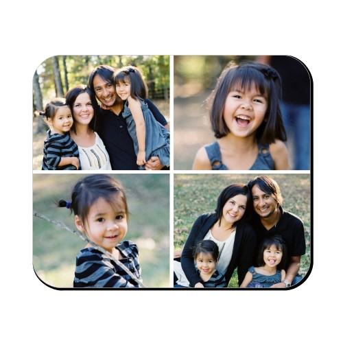 Gallery of Four Mouse Pad, Rectangle, Multicolor