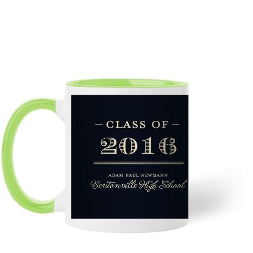 Graduation Masculine Mug, Green,  , 11 oz, Black