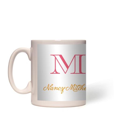 Monogram White Mug